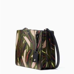 NWT Kate Spade Printed Eva Crossbody Bag In Green